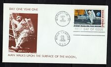 USA 1969 First Man on the MOON  Double Dated FDC Space