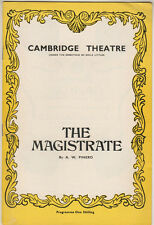"""Alastair Sim  """"The Magistrate""""   Playbill  London 1970 Patricia Routledge"""