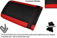 Rojo Y Negro Custom Fits Yamaha Trx 850 95-99 Trasera de piel cubierta de asiento solamente