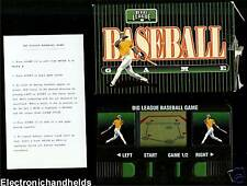 BIG LEAGUE BASEBALL ELECTRONIC HANDHELD LCD TOY GAME VINTAGE MINI POCKET TRAVEL