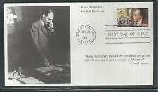 # 3135 RAOUL WALLENBERG, SWEDISH DIPLOMAT  1997 Mystic First Day Cover