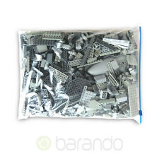 1 Kilo LEGO grau ca. 900 Teile Kiloware, Platten, Steine kg Konvolut gereinigt