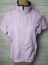 Womens L Pearl Izumi Lavender Cycling Windbreaker Mesh Back Vest + SS Shirt EUC