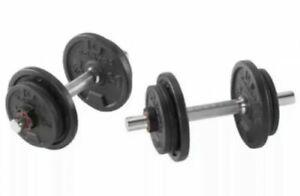 Domyos Weight Training Dumbbell Kit  x2 10KG - 20kg Total - Exercise & Fitness