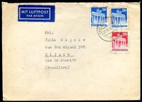 GERMANY, INTERALIADA TO BRAZIL Air Mail Cover 1950, w/Cinderella on the back