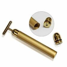 24k Gold Beauty Bar Facial Roller Face Vibration Skincare Massager Device KY