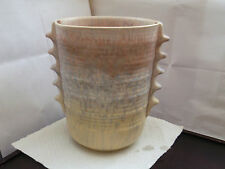 VERY LARGE SHAPED VASE  MOTTLED COLOURS ON CREAM BASE   ENGLISH MADE MORVILLE