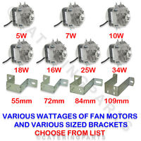 POLESTAR UNIVERSAL REFRIGERATION CONDENSER FAN MOTORS 5W-34W & BRACKETS 55-109mm