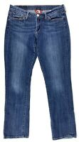 LUCKY Women's Med Blue Wash Stretch Jean Size 10 Embroidered Pockets EC