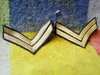 OZ SET OF EPAULETTES SHOULDER CORPORALS GOLD AND BLACK Z