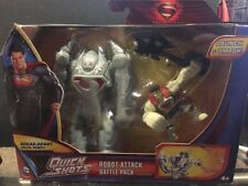 SUPERMAN MAN OF STEEL Robot attack battle pack quick shots mib