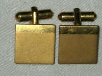 A Pair of Vintage 70's Satin Finish Gold Plated Mens Cufflinks