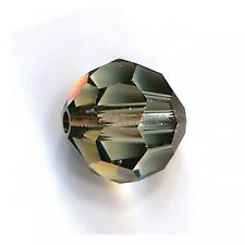 Golden Teak Crystal Bead 10mm Small Ball Center Hole Prism Suncatcher Pack-100