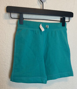 Hanna Andersson Drawstring French Terry Cotton Shorts Size 100 US 4 Turquoise