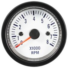 52mm Tachometer Gauge Electrical Super White LED Blue Scale Taiwan Made