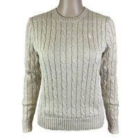 Polo Ralph Lauren Women's Cable Knit Sweater (Oatmeal Heather, S) 211570012039