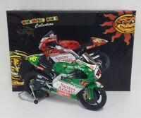 MINICHAMPS VALENTINO ROSSI 1/12 MODELLINO MOTO DIE CAST APRILIA RSW IMOLA 1999