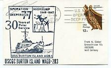 USCGC Burton Island WAGB-283 Operation Highjump Deep Freeze Polar Cover SIGNED