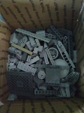 3 pounds of Lego bricks -  gray from various sets
