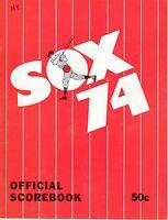 1974 MLB Baseball program, New York Yankees @ Chicago White Sox, unscored ~ Good
