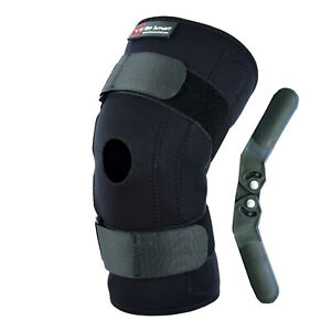 Hinged Knee Arthritis Support Brace Guard Stabilizer Strap Wrap