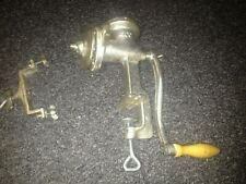 More details for a large '500' meat mincer / grinder with clamp on it