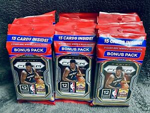 2020-21 Panini Prizm NBA Basketball Cello Pack 15 Cards Brand New Factory Sealed
