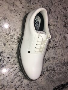 G/Fore Gallivanter Men's Leather White (Snow/Charcoal) Golf Shoes Size 11