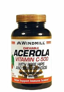 Windmill Chewable Acerola Vitamin C-500, 50 Ct