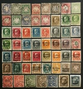 BAVARIA COLLECTION OF OLD STAMPS