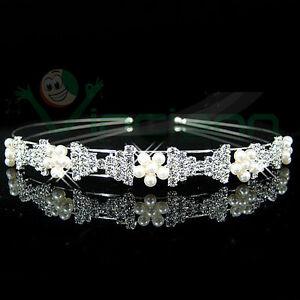Cerchietto Bows strass perle accessori capelli fermacapelli acconciatura sposa