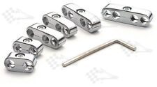 Chrome Pro Style Ignition Lead / Wire Separators - Fits 8mm - 9mm Leads / Wires