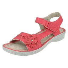 Calzado de mujer sandalias con tiras de color principal rojo talla 40