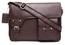 Designer Leather Mens  Ladies Crossover Shoulder Work Messenger Bag Laptop