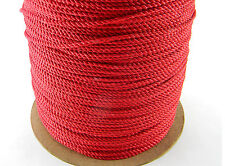 "NEW 5 YARDS DECORATIVE 1/8"" TWISTED CORD TRIM ROPE THREAD RED"