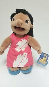 "Disney Store Exclusive Lilo & Stitch 8"" Bean Bag Plush Toy Lilo Tags vntg"