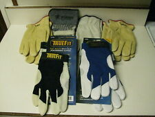 6 Pairs Of Leather Work Gloves Large Mechanic Style Amp Heavy Duty