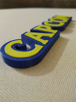 Capcom video game logo sign 8.25in (3D printed, man cave, game room, videogame,
