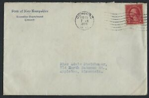 US 1929 GOVERNOR OF NEW HAMPSHIRE AUTOGRAPH & EMBOSSED