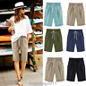 Fashion Women Ladies Loose Shorts Trousers Cropped Pants Summer Beach Plus Size