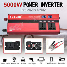 5000W Inversor de Corriente Convertidor DC12V TO AC220V Power Inverter USB Port