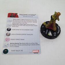 Heroclix Nick Fury, Agent of SHIELD set Madame Hydra #057 Super Rare w/card!