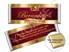 Royal Baby Prince Boy Candy Bar Wrappers/Red and Gold-Baby Shower/New Baby 12ct