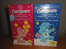 LOT 2 VHS Tapes CARE BEARS Bedtime for Care-A-Lot, The best way to make friends