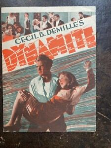 DYNAMITE HERALD - Cecil B. DeMille 1930 MGM Movie Herald- Great Color