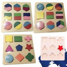 Baby Child Kid Educational Wood Shape Sorter Board Wooden  Toys Blocks GBDOM 11