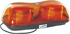 LED 12V BOLT ON TWIN BEACON AMBER LIGHT BAR - CHEAPEST ON EBAY !