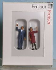 Preiser 65360, Spur 0  1:43,5 / 1:45, US-President Obama and  the First Lady
