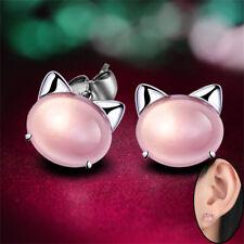 1Pair Femme  Boucle D'oreille Argent Plaqué  Rose Quartz Boucles D'oreilles