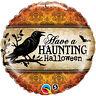 HAVE A HAUNTING HALLOWEEN FOIL BALLOON PARTY DECORATION 43CM CROW BATS RAVEN